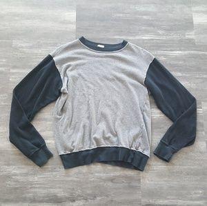 Grey Black Melville Oversized Long Sleeve